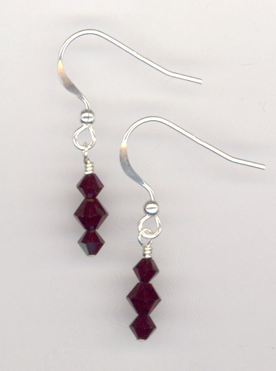 Lady In Red Crystal Earrings