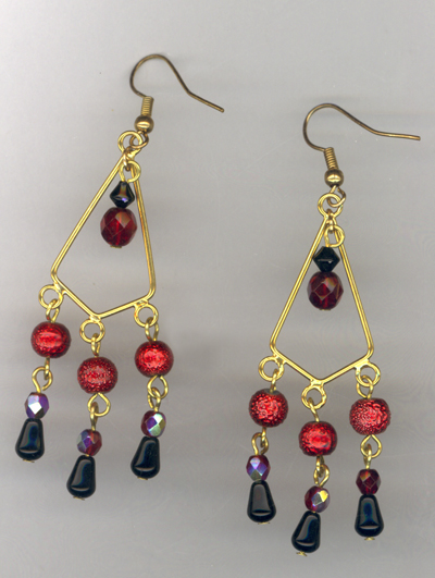 Deck The Halls Chandelier Earrings