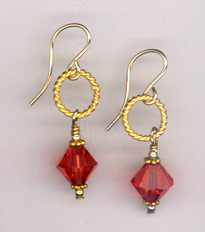 Autumn Gold ~ Swarovski Crystal Earrings