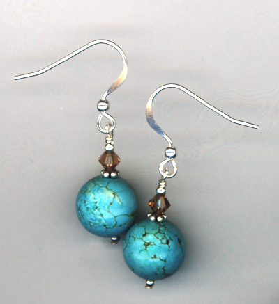 Colorado Turquoise  Sterling Earrings