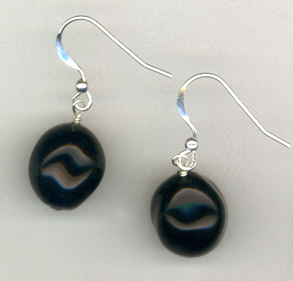 Midnight Black Beaded Earrings