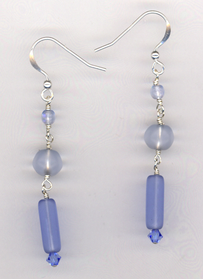 Blue Moon Triple layers Earrings