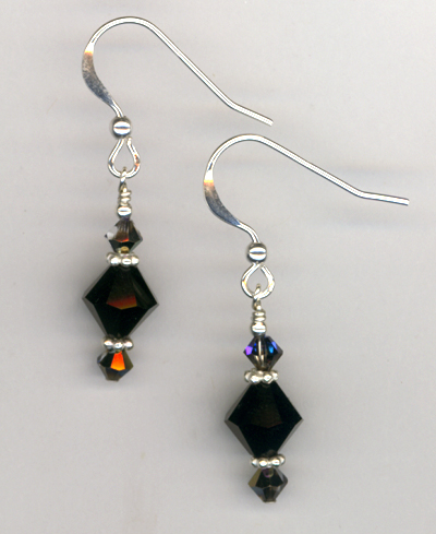 Mystic Black Swarovski Earrings