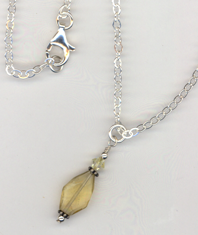 Lemon Yellow Gemstone Pendant Necklace
