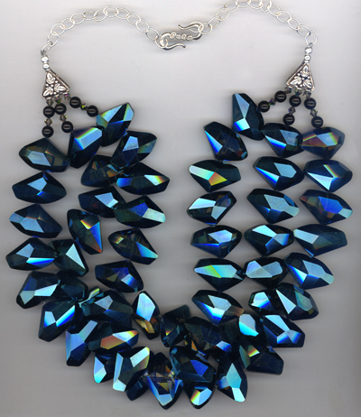 Galactic Blue Statement Necklace