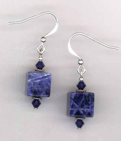 Sapphire Lapis Gemstone Earrings