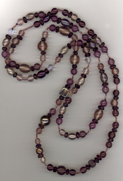Peel A Grape ~ Super Long Beaded Necklace