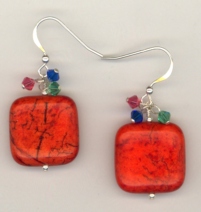 Color Splash ~ Gemstone Crystal Beaded Earrings