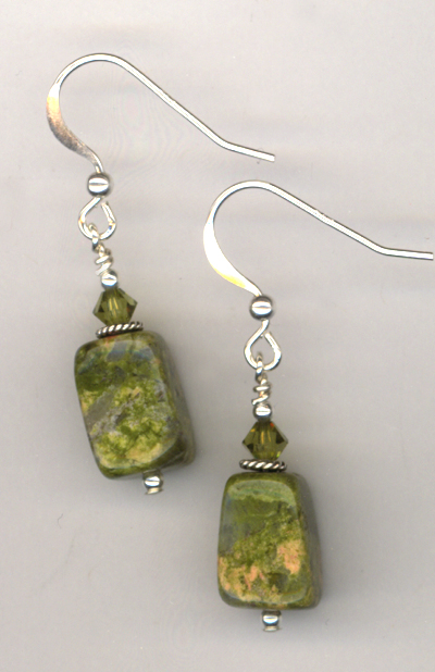 Harvest Home ~ Gemstone Crystal Earrings