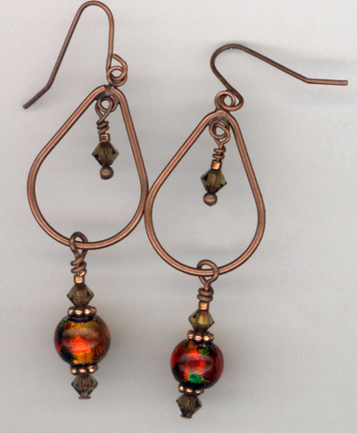 Harvest Copper Chandelier Earrings