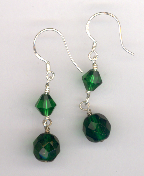 Emerald Isle ~ Swarovski Crystal Earrings