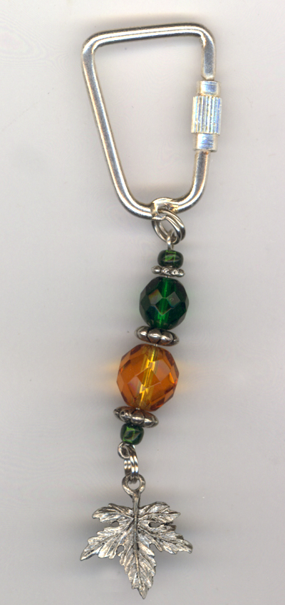 Falling Into Autumn ~ Beaded Charm Key Chain