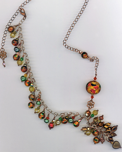 Harvest Indian Summer Copper Charm Necklace