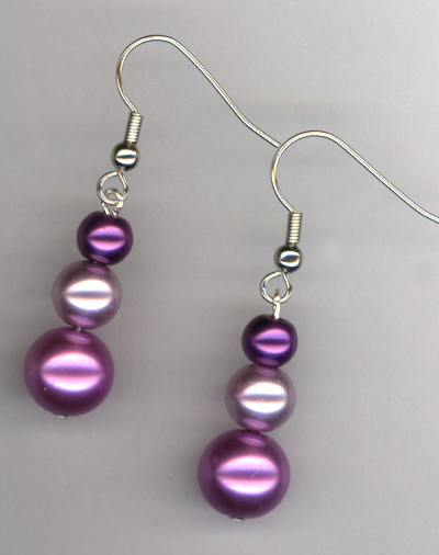 Purple Pearl Passion ~ Earrings