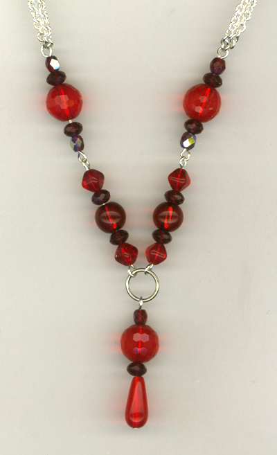 Perfect Holiday Red Crystal Necklace