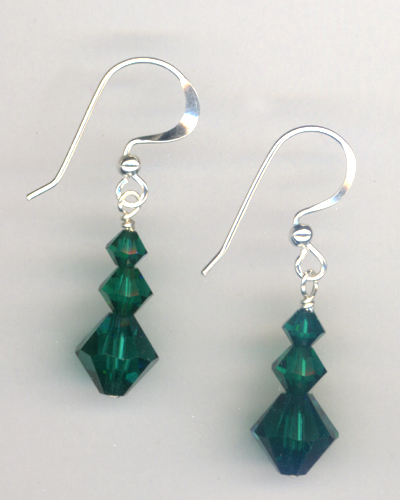 Evergreen ~ Swarovski Crystal Earrings