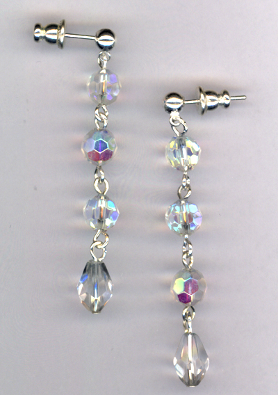 Crystal Glam Post Earrings