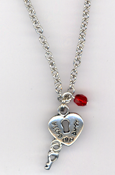 Key 2 My Heart Locket Crystal Necklace