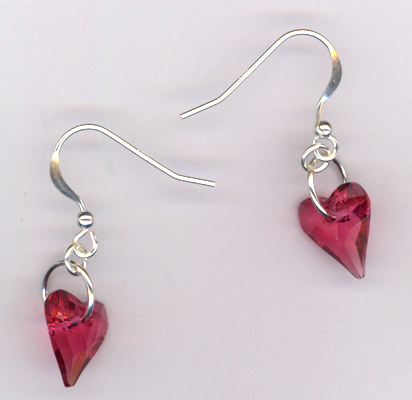 Wild Heart ~ Indian Pink Crystal Earrings