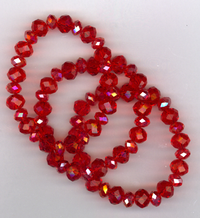 Lady In Red ~ Trio Stretch Bracelets