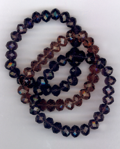 Royal Beauty ~ Purple Amethyst Stretch Crystal Bracelet Trio