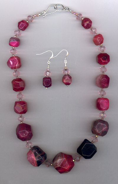 Bam Bam Pink ~ Graduated Quartz Crystal Necklace