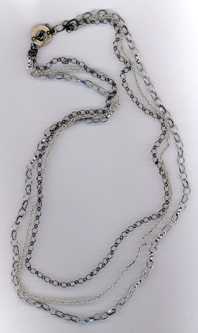 Captured ~ Metal Chain Layered Necklace