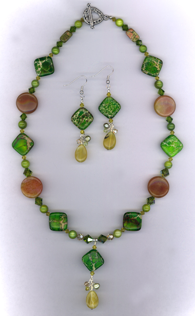 Olivia ~ Gemstone Crystal Jewelry Set