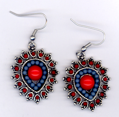 Desert Southwest ~ Red Turquoise Earrings