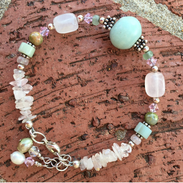 Gemstone mix spring fling ss bracelet