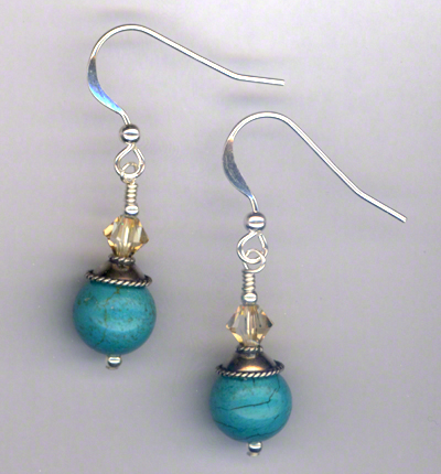 Summer Turquoise Swarovski Crystal Earrings