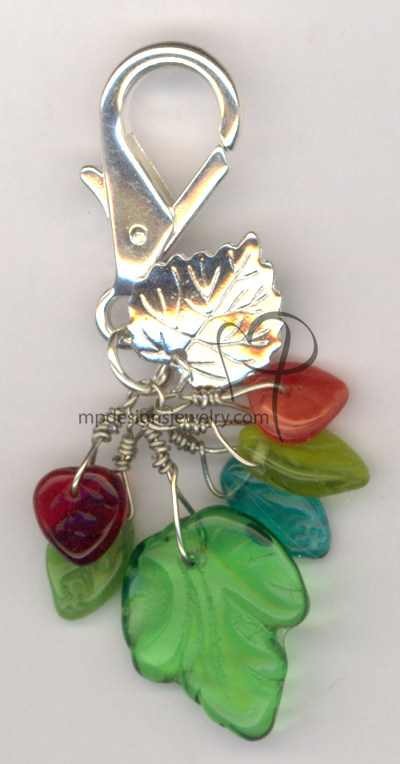 Falling Leaves Key Charm
