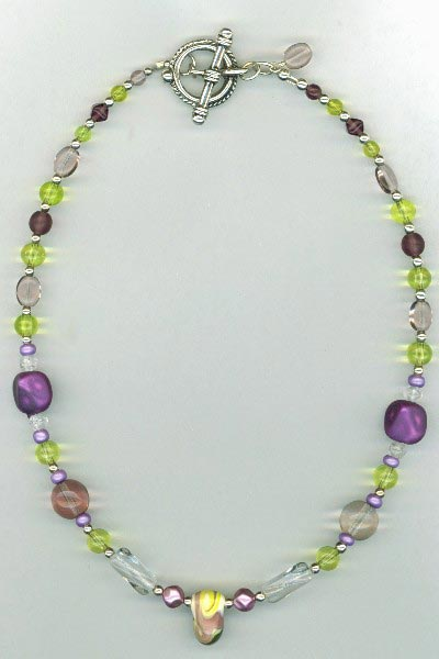 purple Yellow LW necklace