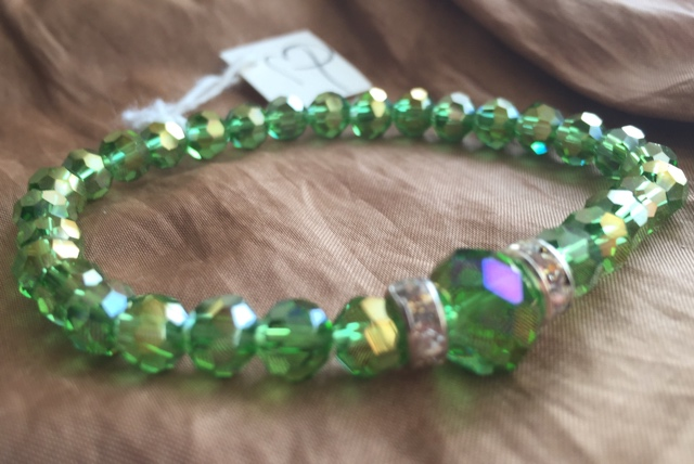 Greenery Crystal Stretch Bracelet
