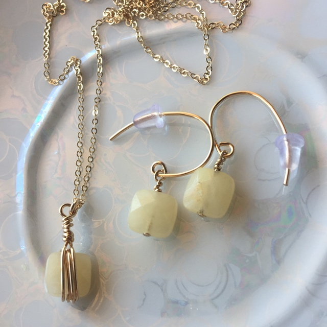 Lemon Squares Gold Jewelry Set