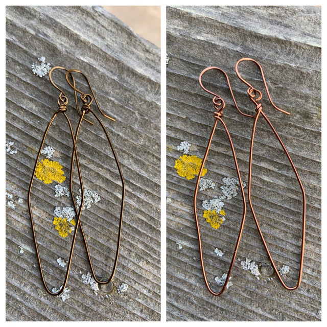 Geometric Wire Hoop Earrings