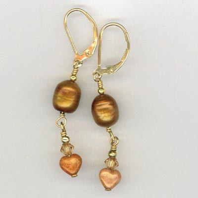 copper gf earrings