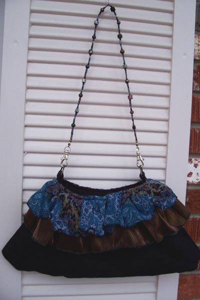 black blue purse
