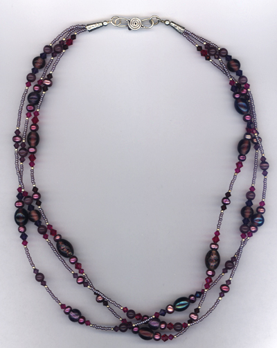 Purple Passion Pearl Necklace