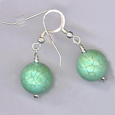turqoiuse round earrings