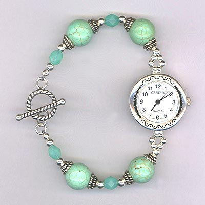 Turquoise ss watch
