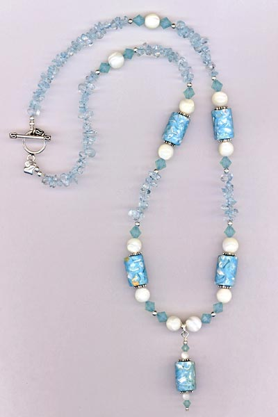 blue MOP opal necklace