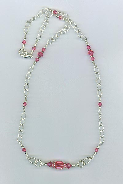 rose cube chain necklace