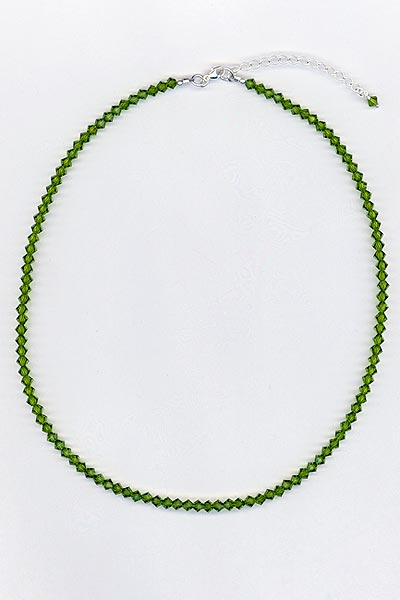 olivine crystal necklace