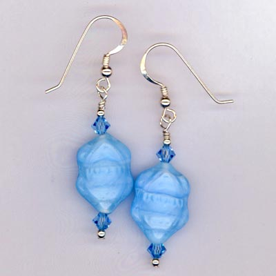 baby blue aqua earrings