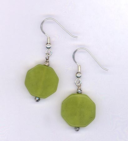 lime jade earrings