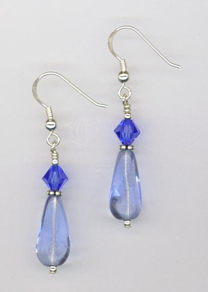 Buffalo Gal ~ Blue Earrings