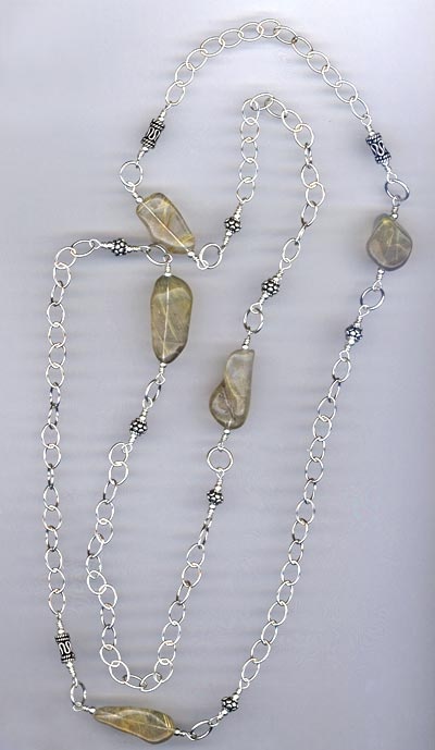 Quartz Nugget Artisan Chain Necklace