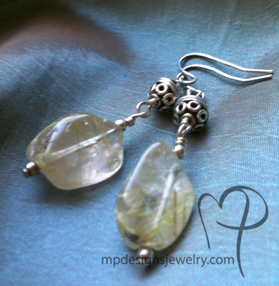 Sterling Silver Quartz Bali Artisan Earrings