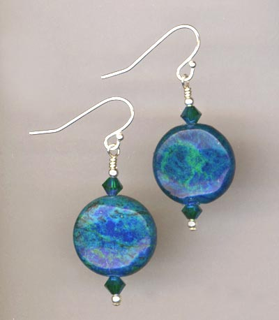 big bold blue earrings